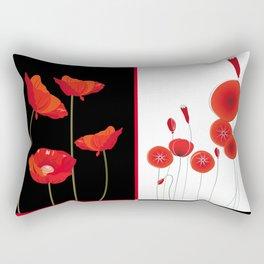 Flaming Poppies Rectangular Pillow