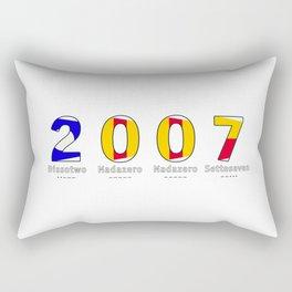 2007 - NAVY - My Year of Birth Rectangular Pillow