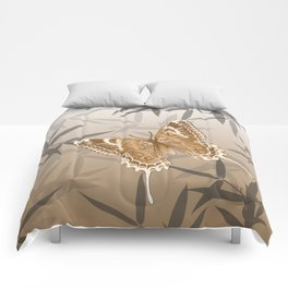 Beautiful Copper Butterfly Design Comforters