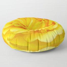 Beautiful Yellow Rose Closeup Floor Pillow