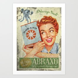 Abraxo - Custom Fallout Ad Art Print