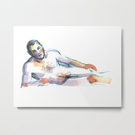 ANDRE, Nude Male by Frank-Joseph Metal Print
