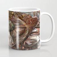 darwin Mugs featuring Darwin Meets Orwell by John Hansen
