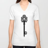 key V-neck T-shirts featuring Key by Thedustyphoenix