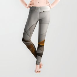 Elegant Chaos, Abstract Fractal Art Leggings