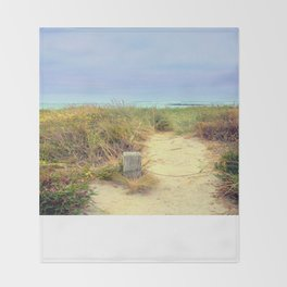 Beach Path Throw Blanket