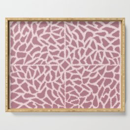 Girly Modern Pink Glitter Abstract Mosaic Geo Art Serving Tray