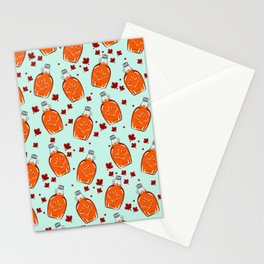 Super Canadian Maple Syrup Pattern Stationery Cards