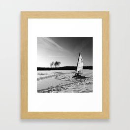 Ice Sailing Framed Art Print