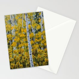 Autumn Birch Trees Stationery Cards