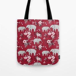Alabama university crimson tide elephant pattern college sports alumni gifts Tote Bag