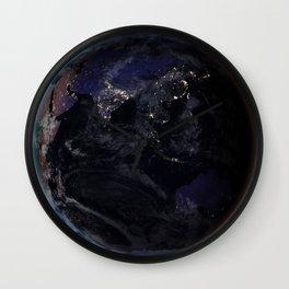 The Earth at Night 2 Wall Clock