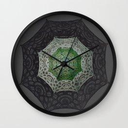 Goth Art Victorian Umbrella Lace Mandala Wall Clock