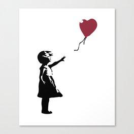 Girl With Red Balloon, Banksy, Streetart Street Art, Grafitti, Artwork, Design For Men, Women, Kids Canvas Print