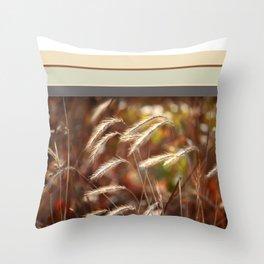 Foxtails I Throw Pillow