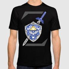 Z for Zelda LARGE Mens Fitted Tee Black