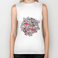 koi fish Biker Tanks featuring Koi Fish by Studio Su