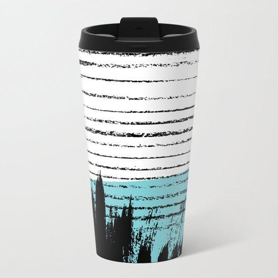 Lines & Strokes 001 Metal Travel Mug
