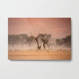 NAMIBIA ... through the storm I Metal Print