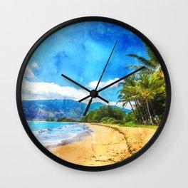 Hawaii Maui Kihei Wall Clock