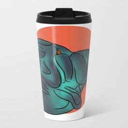 Lil Blue Metal Travel Mug