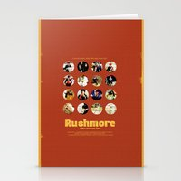 wes anderson Stationery Cards featuring Wes Anderson / Rushmore - The Many Faces of Max Fischer by Isabel