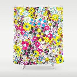Social Flowers by ilya konyukhov (c) Shower Curtain