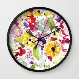 Jim Dandy Farm Flowers Wall Clock