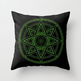 Zazaz Zazas Nasatanada Zazas (green acid edit) Throw Pillow