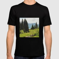 the forest and the fjords Black MEDIUM Mens Fitted Tee