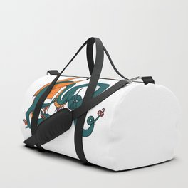 ER Celt Dragon Dark Green, Orange Wings Duffle Bag