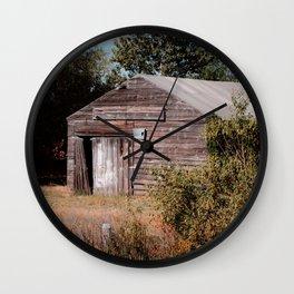Rustic Cabin Wall Clock
