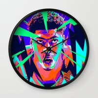 nba Wall Clocks featuring Anthony Davis Nba illu V3 by mergedvisible