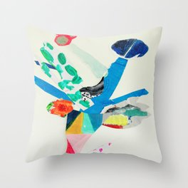 Leaping Blooms Throw Pillow
