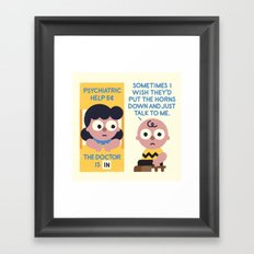 Muted Affection Framed Art Print