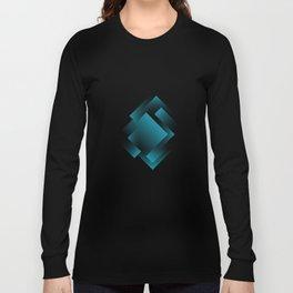 blue color energy labyrinth Long Sleeve T-shirt