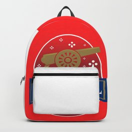 North London Red Football Backpack