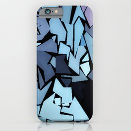 Jagged Blue iPhone Case