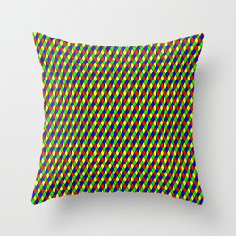 Classic Harlequin Diamond Pattern Throw Pillow