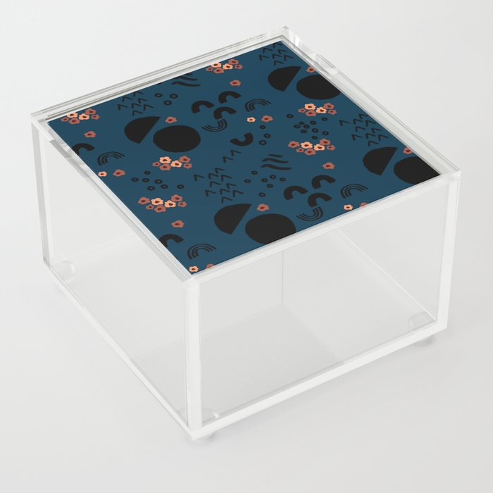 Floral Moonscape Acrylic Box