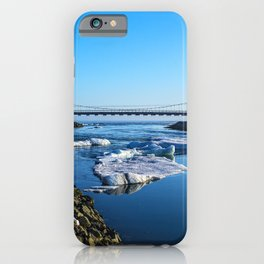 Bridge across the Ice Lagoon Iceland iPhone Case