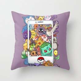 Gotta catch 'em all Throw Pillow