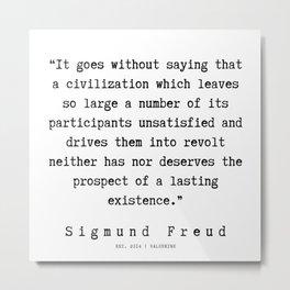 57 |   Sigmund Freud Quotes | 190926 Metal Print