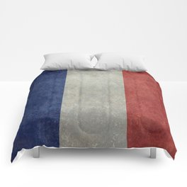 French Flag, Vintage retro style Comforters