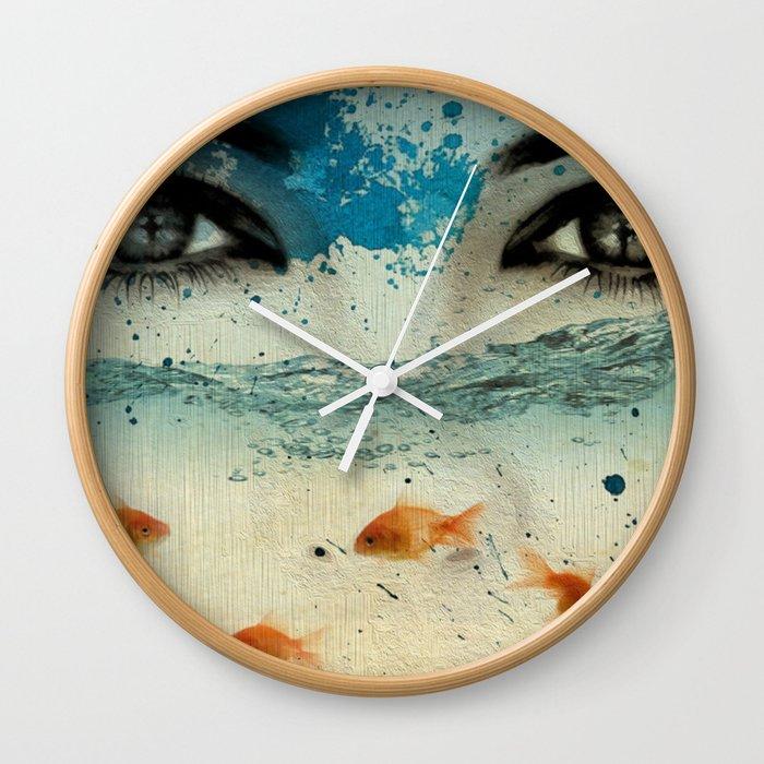 tear in the ocean Wall Clock
