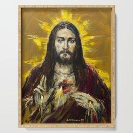 Cor Jesu Sacratissimum Serving Tray