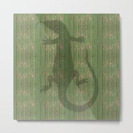 salamander chameleon reptile Metal Print