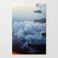 airplane Canvas Prints featuring airplane by venturesomesouls