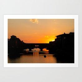 Travel Photography: Sunset Over Arno Art Print