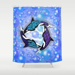 ORCAS BUBBLES Shower Curtain